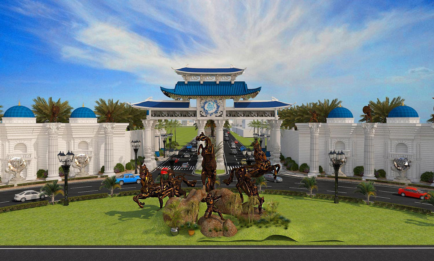 Salient features of Blue World City